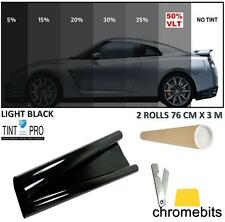 PROFESSIONAL ANTI-SCRATCH CAR WINDOW TINT FILM LIGHT BLACK SMOKE 50% 76cm x 6M