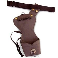 TRADITIONAL ARCHERY LEATHER SIDE/HIP ARROW QUIVER FAL122211 R/H - L/H