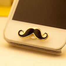 Funny Mustache Home Button Sticker For iPhone 4/4S 5 5C iPod Touch iPad3 Mini