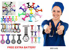 Pattern Plain Silicone Nurse Fob Watch Brooch Tunic Watches With FREE BATTERY B3