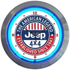 neon clock sign  Only in a Jeep Willy 4x4 all american legend Since 1941