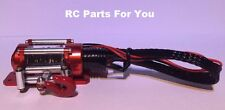 1:10 Scale Red Steel Wired Winch for RC Rock Crawler or Truck