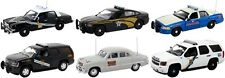 SET OF 6 POLICE CARS RELEASE #1 1/43 BY FIRST RESPONSE REPLICAS FR-43-R01