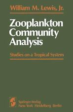 Zooplankton Community Analysis: Studies on a Tropical System-ExLibrary