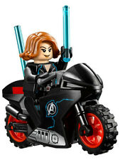 NEW LEGO BLACK WIDOW w/Motorcycle MINIFIG 76050 figure minifigure female marvel