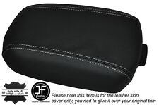 WHITE STITCH LEATHER SKIN ARMREST LID COVER FITS KIA SPORTAGE 2010-2015
