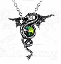 Anguis Aeternus Dragon of Eternity Colorful Crystal Pendant Alchemy Gothic P346