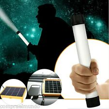 Multi-use 25 LED Solar Light Lamp USB Flashlight Torch Power Bank Camping Hiking