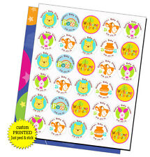 Winnie the Pooh & Friends personalized stickers Baby Shower favors labels tags