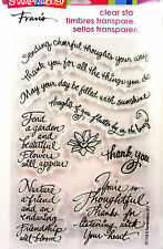 Thoughtful Wish Card Sentiments Stampendous Clear Acrylic Stamp Set SSC1158 NEW!