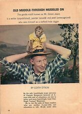 "1964 TV ARTICLE~HUGH ""LUMPY"" BRANNUM 1910-1987~MR GREENJEANS~CAPTAIN KANGAROO~"