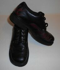 Women's Harley Davidson Lace-up Shoes Size 6.5 Black Leather With Flames #81472
