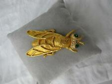 Rare 70s KJL Kenneth Jay Lane Signed Fly Brooch Pin Insect Figural Fantastic