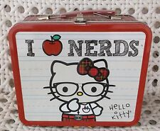 Loungefly Hello Kitty I Love Nerds Tin/Metal Collectible Lunch Box