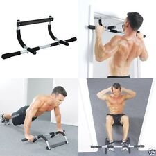 Iron Gym Total Upper Body Workout Bar Door Sport Pull Up Chin Fitness Training