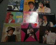 Elvis presley records & book lot
