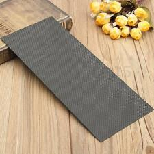 100mm x 250mm x 1mm Black Carbon Fiber Plate Panel Sheet Glossy 3K Plain Weave