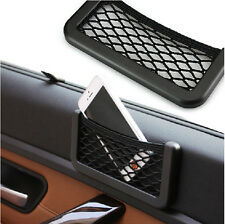 Car Mesh Phone Storage Net Resilient String Bag Phone Holder Ticket Pocket Benz