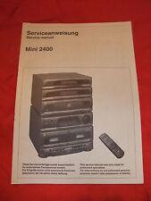 Serviceanleitung mit Schaltplan Serviceanweisung Dual Stereo Anlage Mini 2400