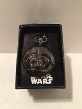 Star Wars Black Men's Accutime Pocket Watch Darth Vader New in Gift Box