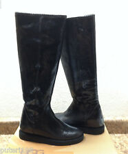 UGG COLLECTION CARMELA TALL SNAKE BLACK BOOTS US 7 / EU 38 / UK 5.5 - NEW