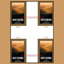 4790a West Virginia Statehood 2013 Imperf Cross-Gutter Block of Four No Die Cuts