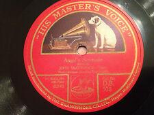 """JOHN McCORMACK, FRITZ KREISLER """"Ave Maria""""/""""Angel's Serenade"""" 78rpm 12"""" 1925 EX+"""