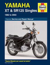 Haynes Manual 1021-Yamaha xt125 & Sr125 (82 - 03) Taller, Servicio, Reparación