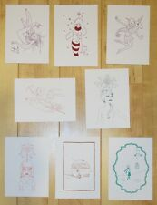 8 Tara McPherson Mini Prints/Handbills - Silkscreen Mini Print Set C