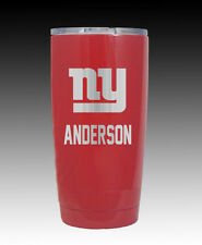 YETI Rambler 20 oz cup tumbler personalized red Giants powder coated