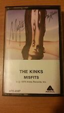 The Kinks - Misfits Tape Cassette 1978 Arista ‎– ATC-4167  Ray & Dave Davies
