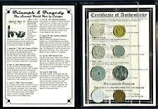 Triumph & Tragedy,The Second World War in Europe 6 Coin Album,Story,Certificate