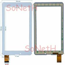 "Vetro Touch screen Digitizer 7,0"" Miia TAB MT-733GR MT-733GW 3G Tablet PC Bianco"