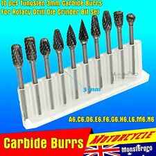10 PCS Solid Carbide Burrs For Dremel Rotary Tool Drill Die Grinder Carving Bit