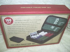 TEXAS HOLD 'EM PORTABLE POKER CHIP SET
