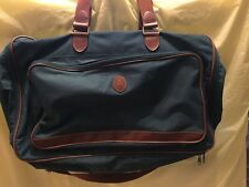 POLO RALPH LAUREN DUFFLE BAG CARRY ON GREEN CANVAS LUGGAGE OVERNIGHT TRAVEL Euc
