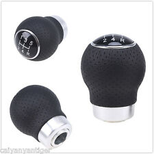 Universal Manual Car Gear Shift Knob Shifter Lever  5-Speed Lether For BMW Audi