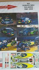 Decals 1/24  réf 893 Subaru WRC SOLBERG Monte Carlo 2005