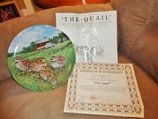 Plate THE QUAIL Upland Birds of North America Knowles 1987 Third Issue MIB + COA