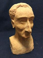 Buste en terre cuite de Jean Cocteau signé A Mercey 1961 ? France