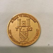 110th Engineer Battalion Combat-Year to Remember TY-92 Gilded Challenge Coin
