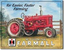 Farmall McCormick Tractors Antique Style Retro Tin Sign Farmers Farm Gift 16""