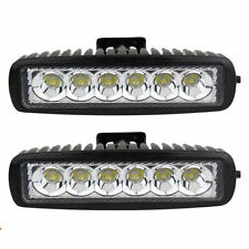 2pcs 18w Led Work Light Bar Flood Beam Offroad Driving Fog 4WD Lamp UTE SUV AW