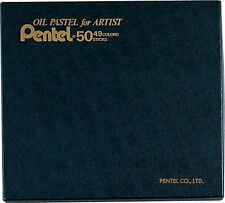 PENTEL CRAYON OIL PASTEL FOR ARTIST 50 (49 COLOURS INCLUDING 2 WHITES)