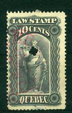 Canada 1870s, Quebec Law Stamp 10c Revenue Used