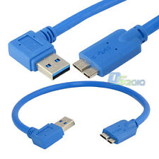 "30cm 11"" USB 3.0 Right Angled A Male To Micro B Male 10pin Plug Extension Cable"