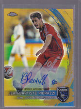 2014 Topps Chrome MLS Autograph Gold Refractor Jean-Baptiste Pierazzi Auto 49/50