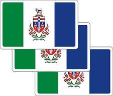 3 Auto Canada Provinz Yukon Car Boot Truck Bike Fahnen Flaggen Aufkleber