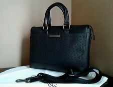 NWT Calvin klein Mens Logo Coated City Commuter  Black Bag MSRP $ 129.50