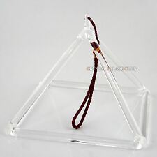 "Optically Clear Quartz Crystal Singing Pyramid 7"" Crystal Singing Bowl"